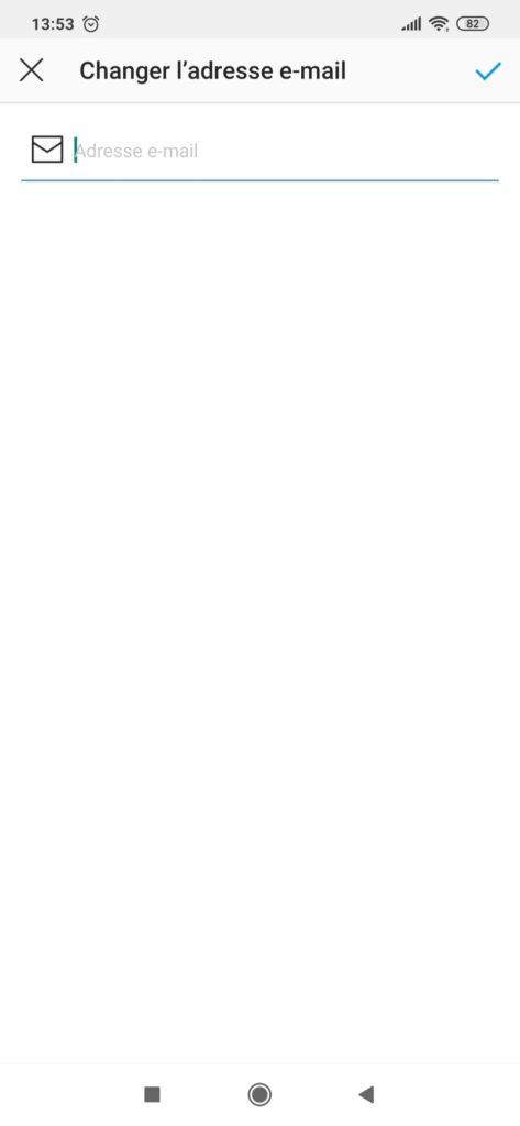 comment changer d'adresse mail sur instagram